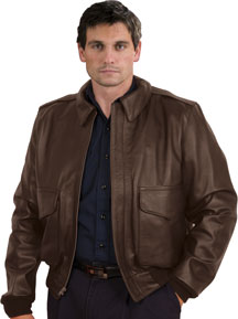 A2 Air Force Leather Bomber Waist Military Jacket | Leather.com